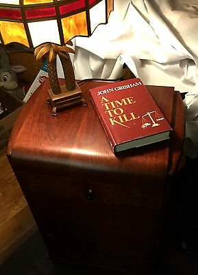Original Joerns Brothers Antique Mahogany Night Stand Curved Top & Sides