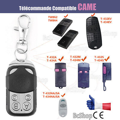 Télécommande compatible CAME TAM 432, TOP432, TOP434, T432, T434, TWIN2  ev s a