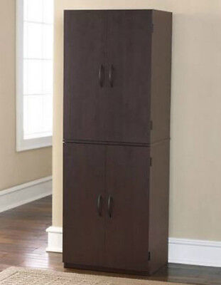 Storage Cabinet 2 Doors Organizer Furniture Office Kitchen Pantry Bookshelves