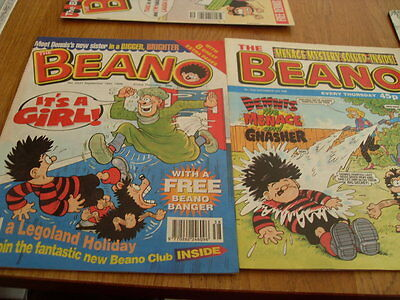 The Beano Issues 2930 / 2931 + Free Gift 1998
