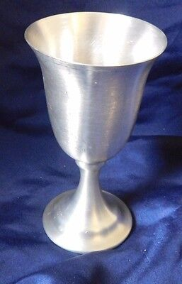 LEONARD Weighted PEWTER Wine Glass Goblet Shot Glass  NEW