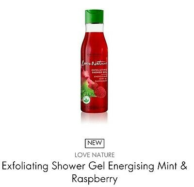 Oriflame Love Nature Exfoliating Shower Gel Energising Mint & Raspberry, 250ml