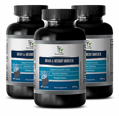 Memory Supplement - BRAIN AND MEMORY BOOSTER 777 mg - Focus Cognitive -3B
