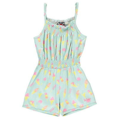 Lee Cooper All Over Print Jumpsuit Infant Girls 3-4 Yrs Ice Cream