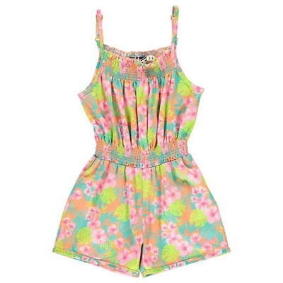 Lee Cooper All Over Print Jumpsuit Infant Girls 5-6 Yrs Tropical