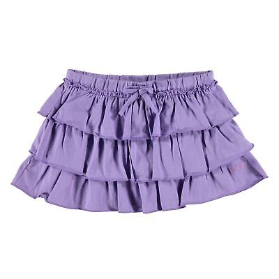Girls Designer Lee Cooper 3 Layer Frill Ra Ra Purple Skirt Size Age 5-6