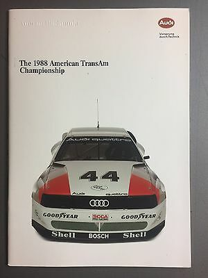 1988 Audi 200 Quatro Trans-Am Showroom Advertising Brochure RARE Awesome L@@K