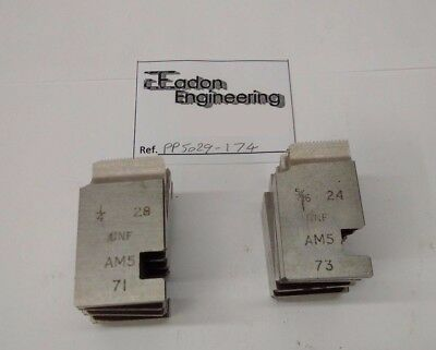 "1/4"" x 28TPI & 5/16"" x 24TPI UNF Coventry Die Chaser Sets, 1"" AMS Type."