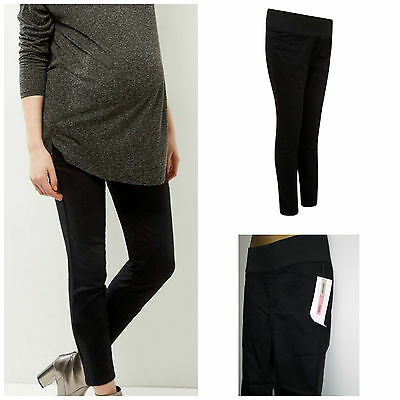 New Look Maternity Black skinny Jeggings Under Bump Jeans Size 8 - 18