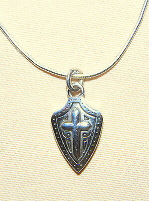 New BRIGHTON Sanctum Cross JOAN OF ARC charm on custom necklace  FREE SHIPPING !