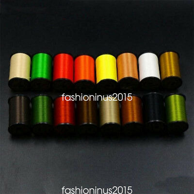 8spools/Lot 16Colors Fly Tying Thread 100D Denier Lightly Waxed 250yards