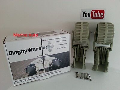 Dinghy wheelers Inflatable boat Launching wheels RIB Video Inside!
