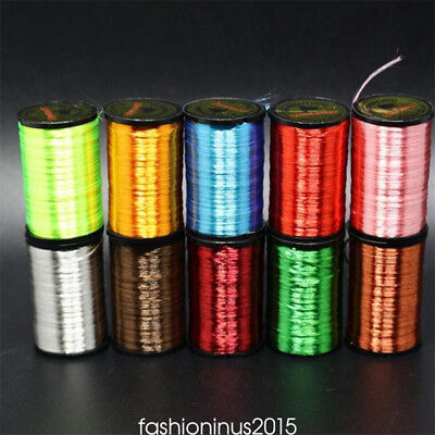 10Color SALTWATER/TROUT/BASS/SALMON Fly Tying Materials Tinsel Floss Wire Thread