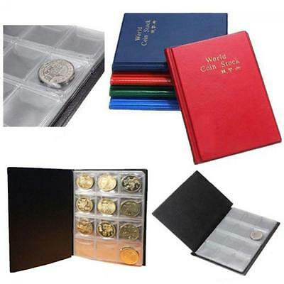 120 Coins SALE Pockets Money Holder Storage Penny Book Collection Coin Album