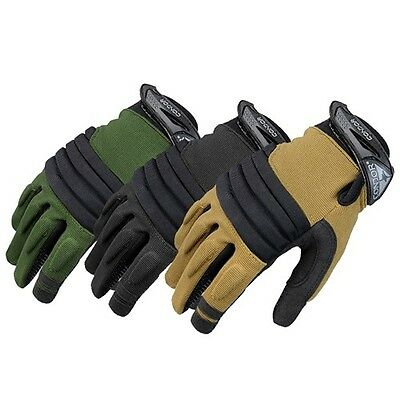 Condor Tactical Stryker Full Finger Knuckle Spandex Police Military Gloves #226