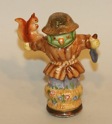 Halcyon Days Enamel Trinket Box Scarecrows Gardener Old Trowel Cheeky Squirrel