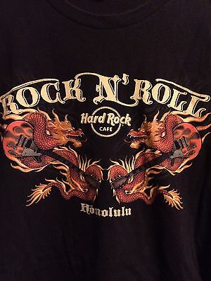 Hard Rock Cafe Honolulu Black XXL Shirt Dragons