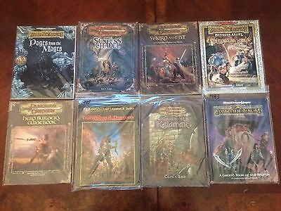 Vtg Dungeons Dragons Roleplaying Book Lot of 8 GAME ADVENTURES MANUAL & RULEBOOK