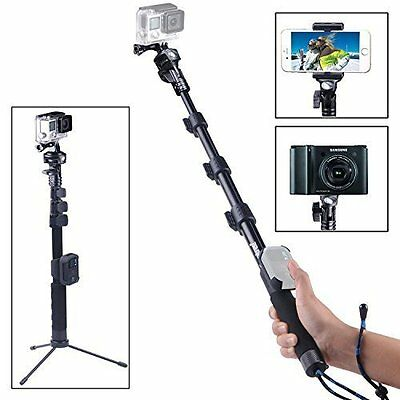 Smatree Selfie Stick Telescoping Pole with Tripod Stand for GoPro Hero 6 Cameras