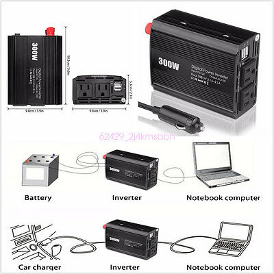 DC12V to AC 110V 300W Vehicle Modified wave Power Inverter Circuits Off Grid