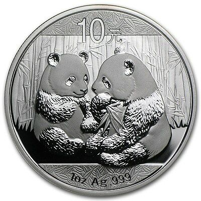 2009 Chinese Panda 1 oz Silver Coin In Mint Capsule