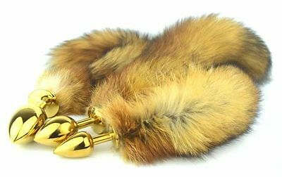 BROWN Sex Toy Funny Love Faux Fox Tail Butt Anal Plug Sexy Romance Games Toy