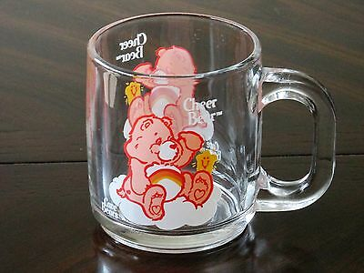 1984 Care Bears Cheer Bear Unused Glass Mug - American Greetings - Vintage  Rare