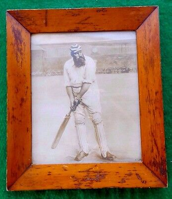 Antique W. G. Grace image English Cricket Tasmanian huon pine Australiana frame