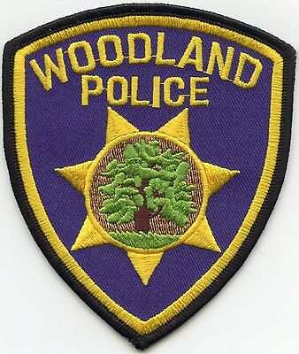 Woodland California Ca Police Patch