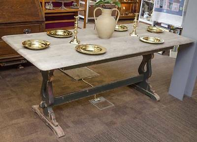 ANTIQUE RUSTIC Shabby Chic REFECTORY DINING TABLE