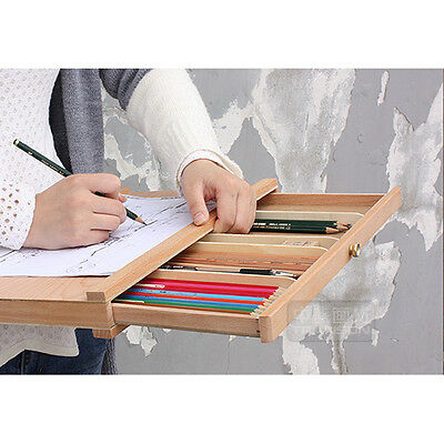 Wooden Single Layer Sketch Pencil Box Stationery Box for Artist School Students