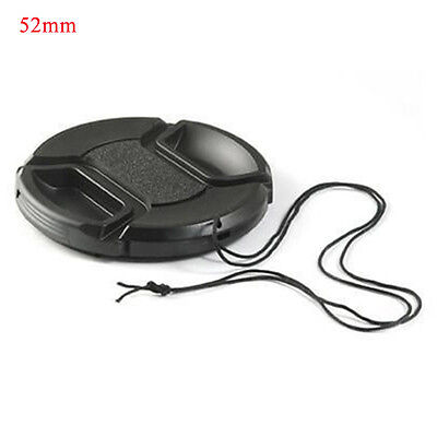 Hot Sale 52mm Center-pinch Front Lens Cap Cover For All Lens Filter With Cord