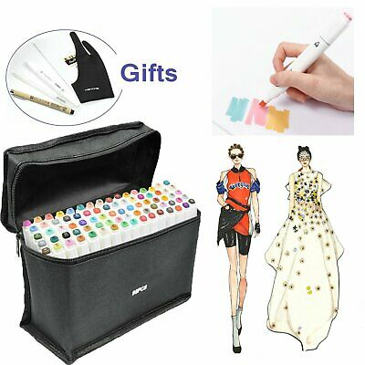 Touch New Marker Pen 80 Color Set Graphic Animation Art Sketch Twin Point AU