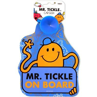 Mr Tickle Baby On Board Safety Car Vehicle Sign With 1 Suction Cup