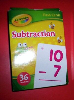 Crayola subtraction math Flash Cards pack Children Early Learner Educational New