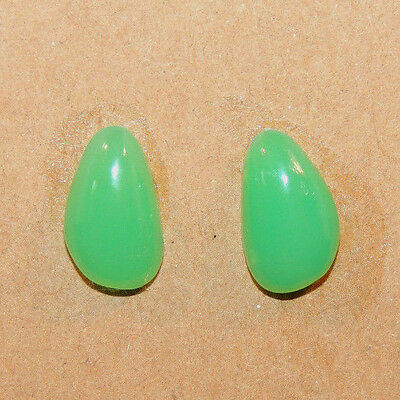 Chrysoprase Cabochons 12x7mm with 4mm dome set of 2 (12340)