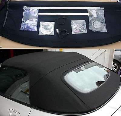Brand New + Fiting Kit Mgtf Black Mg Mgf Tf Heated Glass Rear Screen Hrw Hood