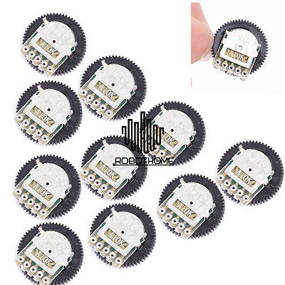 10pcs A103 10K Duplex Gear Potentiometer A10K Stable for Radio MP3/MP4