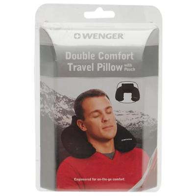 Wenger Double Comfort Travel Pillow head cushion with pouch