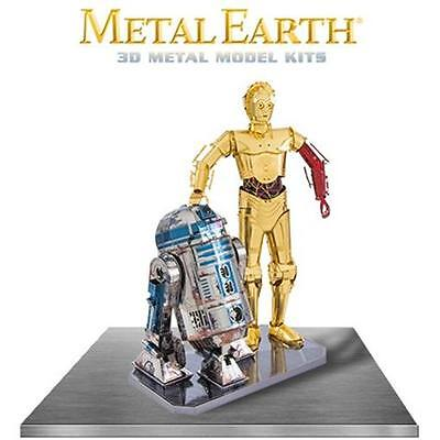 Fascinations Metal Earth R2-D2 and C-3PO Colored Star Wars Laser Cut 3D Model