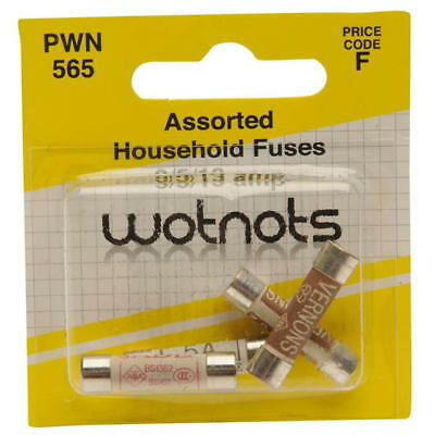 Wotnots PWN565 Assorted Household Fuses 3/5/13 AMP