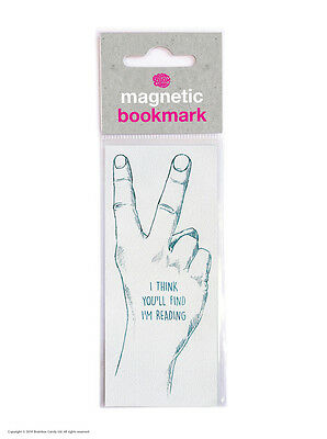 Brainbox Candy Think You'll Find I'm Reading magnetic bookmark funny cheap rude