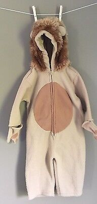 Baby Gap Lion Costume 12-18 Months Hooded Halloween Toddler