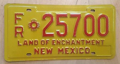 """New Mexico Freight Truck Semi Irp License Plate """" Fr 25700 """" Nm 1980's"""