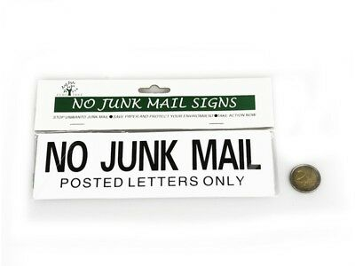 No Junk Mail Posted Letters Only Sign
