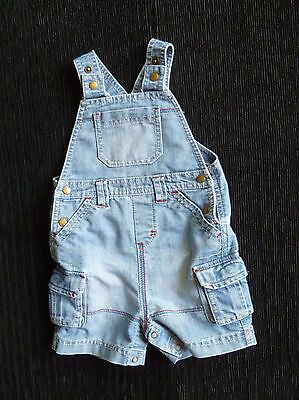 Baby clothes BOY 6-9m NEXT denim dungarees/shorts pockets 2nd item post free!