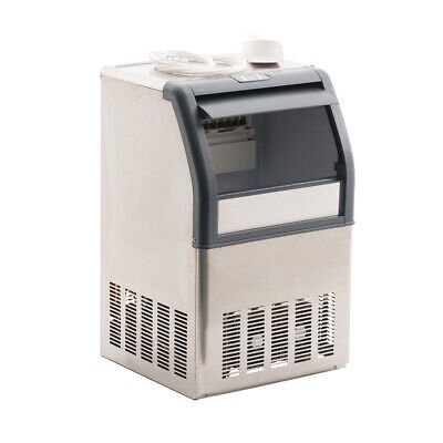 Commercial Ice Maker Stainless Steel Machine 40Kg/24Hr Restaurant Bar Icemaker