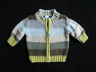 Baby clothes BOY 0-3m NEXT gorgeous zip,chunky coloured cotton knit cardigan