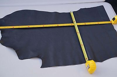 Grey Elmo cowhide upholstery leather piece/off-cut 69 x 40 cm