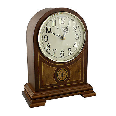 Wooden Barrister Mantel Clock with Westminster and Ave Maria Chimes